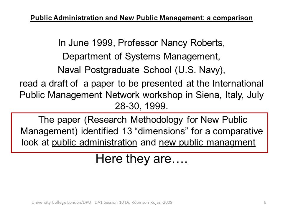 Public Administration and New Public Management: a comparison