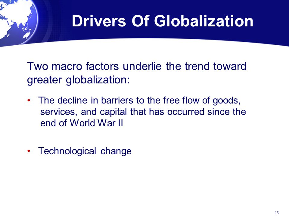Drivers Of Globalization