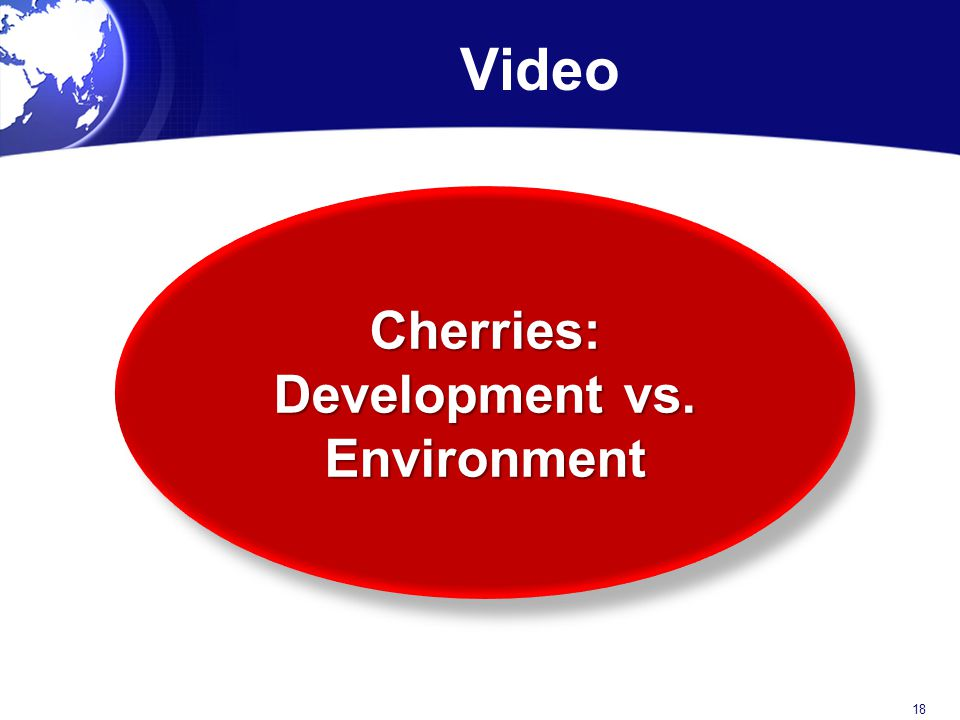Cherries: Development vs. Environment