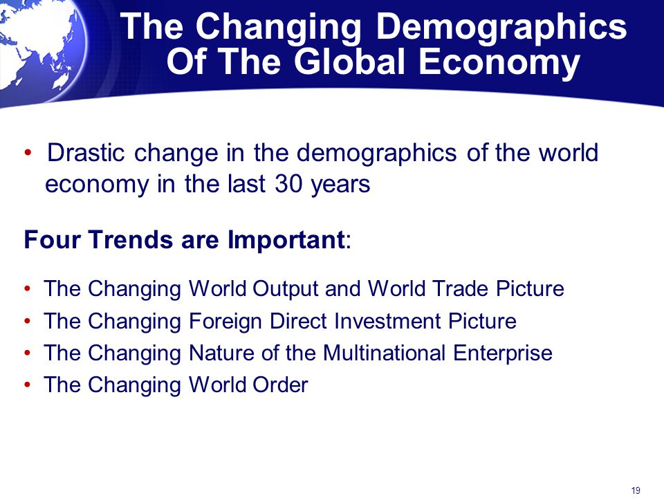 The Changing Demographics Of The Global Economy