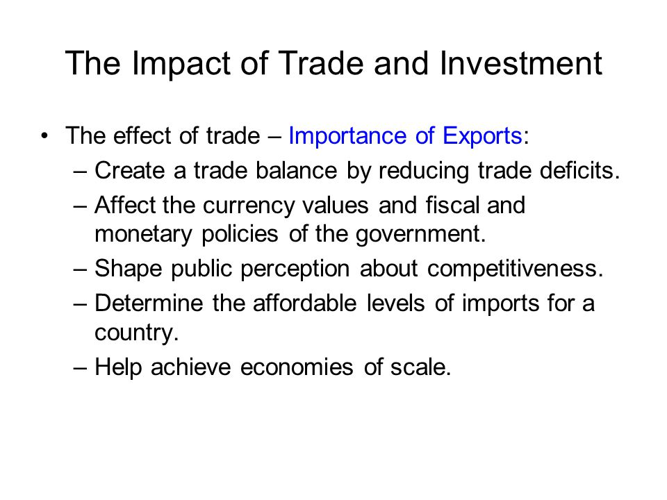 the effect of trade balance on Trade specialists agree that it has proven difficult to separate the deal's direct effects on trade and investment from other factors, including rapid improvements in technology, expanded trade.