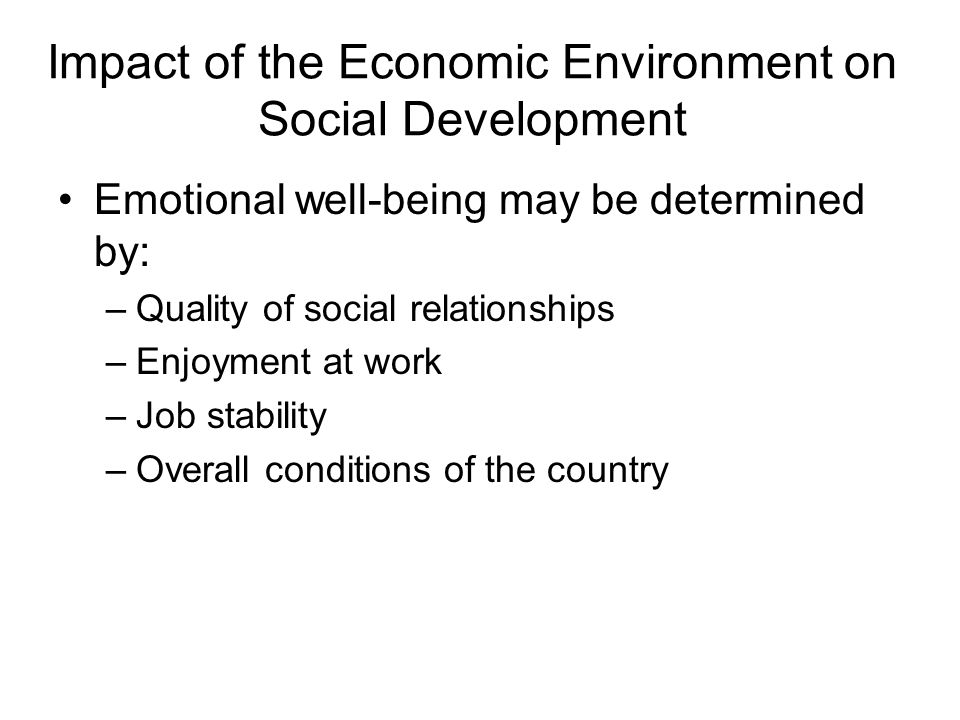 social environment and its effect on I also thank the office of dean of school of public health and social   conclusion: the work environment has effect on the performance level of  employees.