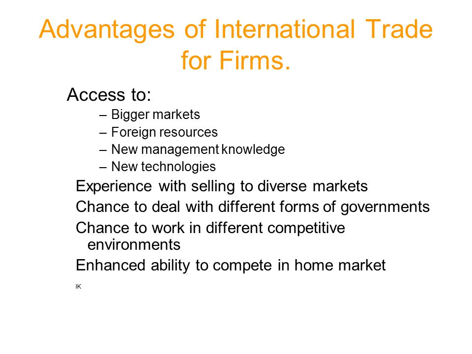 advantages of technology in international trade