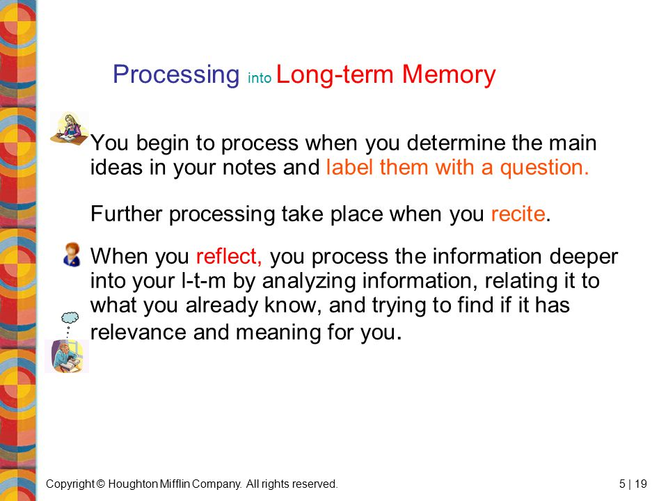 Processing into Long-term Memory