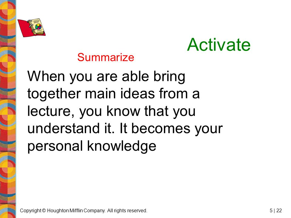 Activate Summarize.
