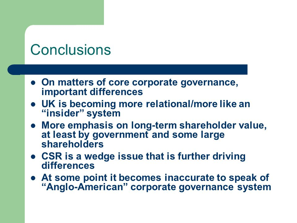 "comparison of corporate governance pratice in Relation between csr and corporate governance both csr and corporate governance (cg) by definition feature as an issue of company""s management practices and therefore sometimes get confused with each other1 the question mainly moves round the fact whether the csr and cg go the same way of company."