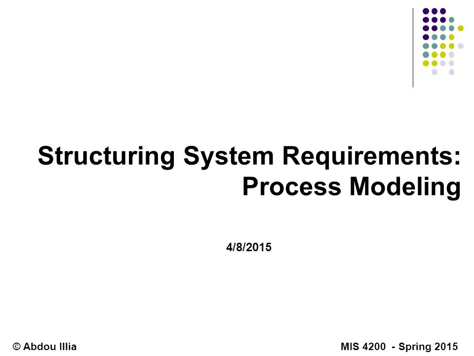 structuring system requirements  process modeling