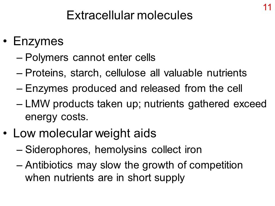 Extracellular molecules