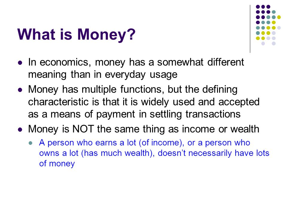 Monetary exchange meaning