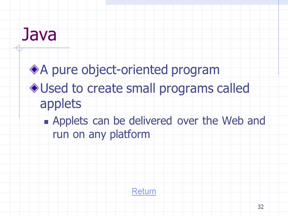 Java A pure object-oriented program