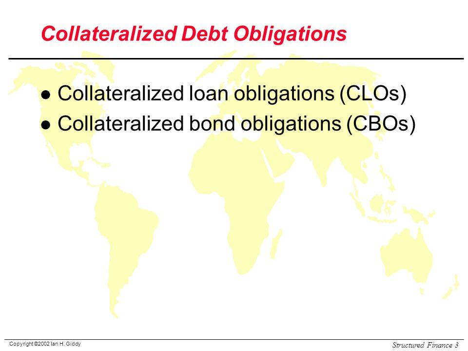 structured finance and collateralized debt obligations pdf