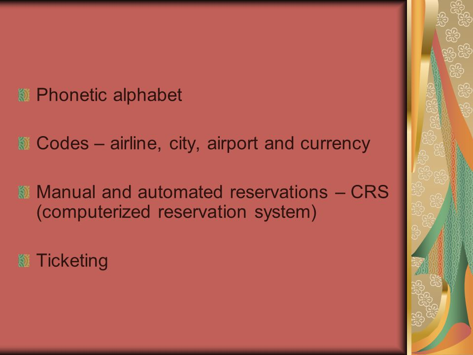 CRS - Central Reservations System