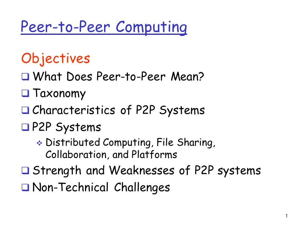 what does p2p stand for