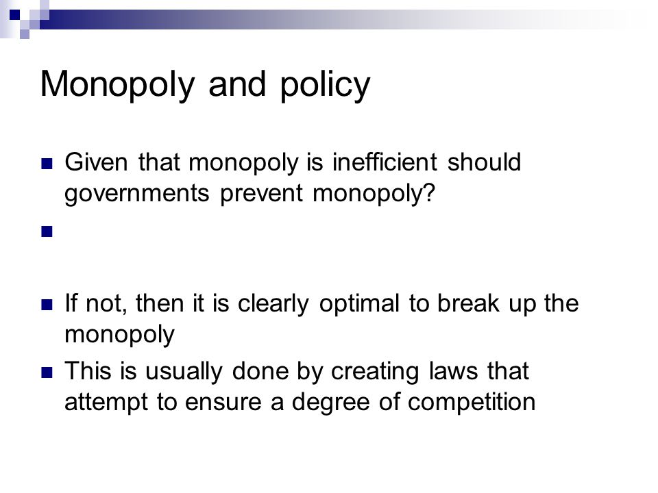 How to control monopoly in economy?