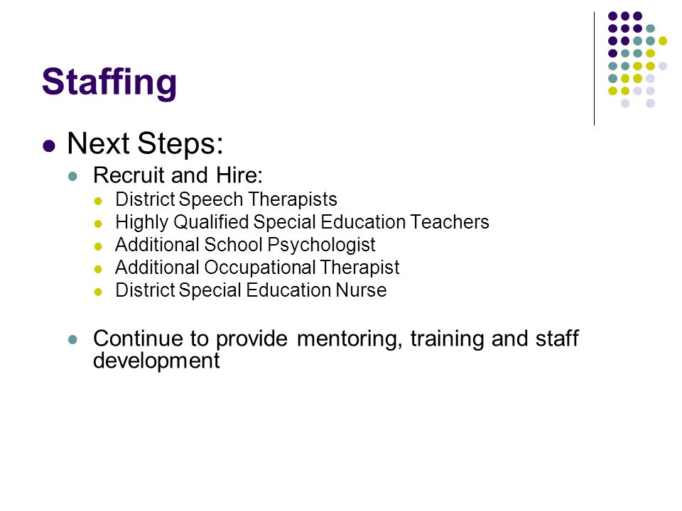 Staffing Next Steps: Recruit and Hire: