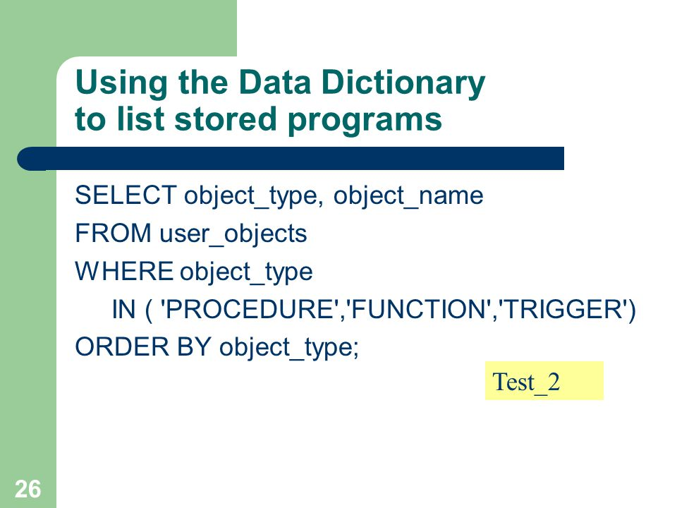 Oracle select from type object