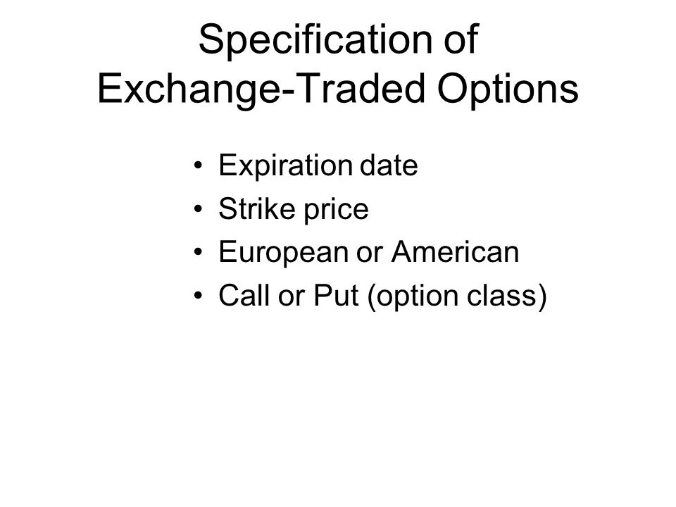 Exchange traded option prices