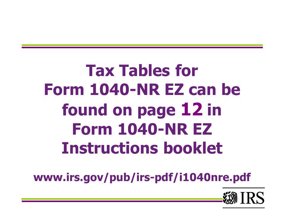 Instructions On Form 1040 Nr