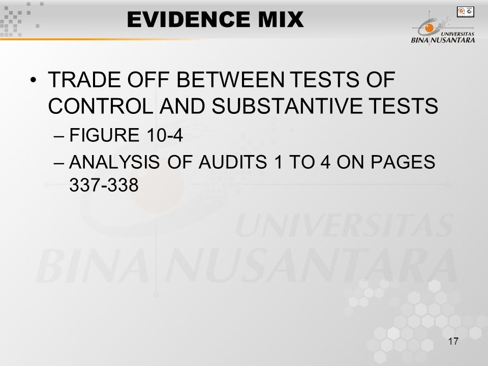difference between test of control and substantive procedures Substantive testing is the stage of an audit when the auditor gathers  substantive procedures (or substantive  practice aptitude tests with job test prep.
