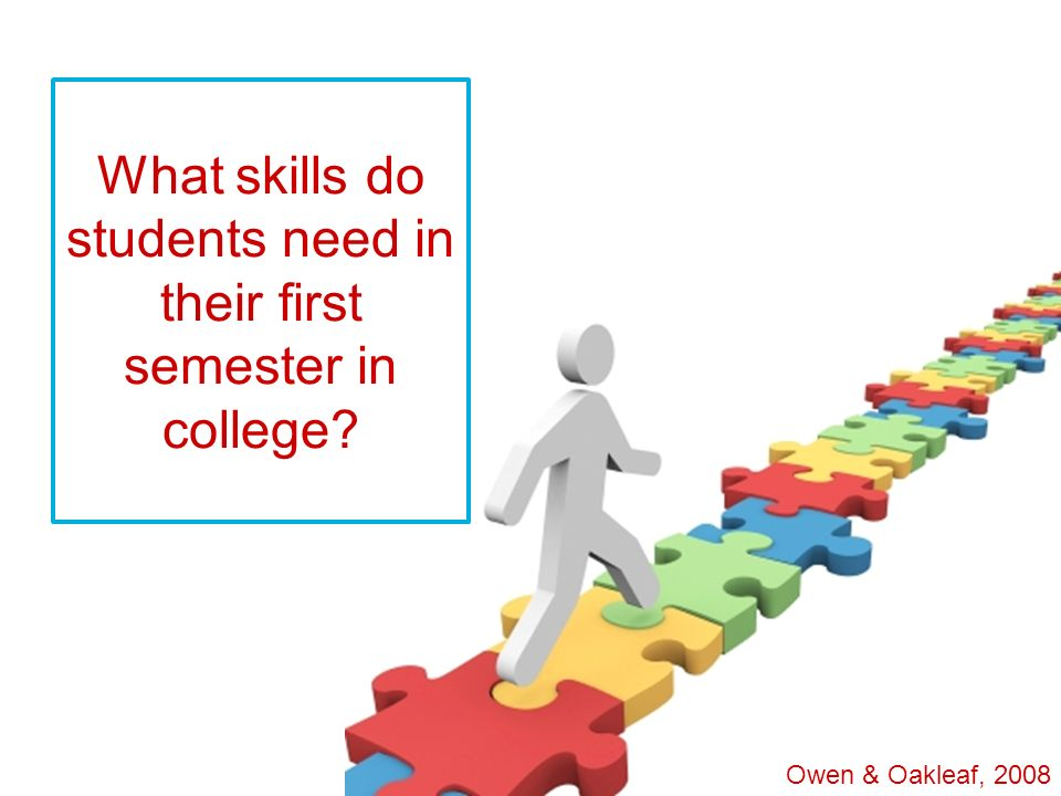 What skills do students need in their first semester in college