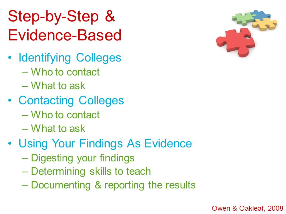 Step-by-Step & Evidence-Based