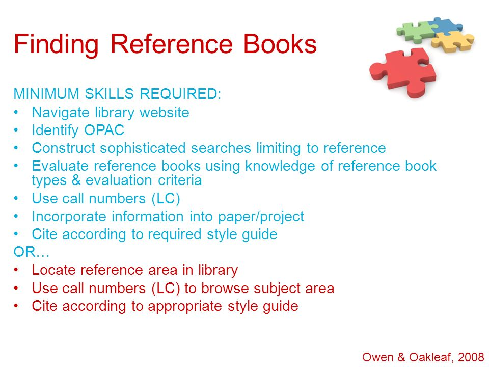 Finding Reference Books
