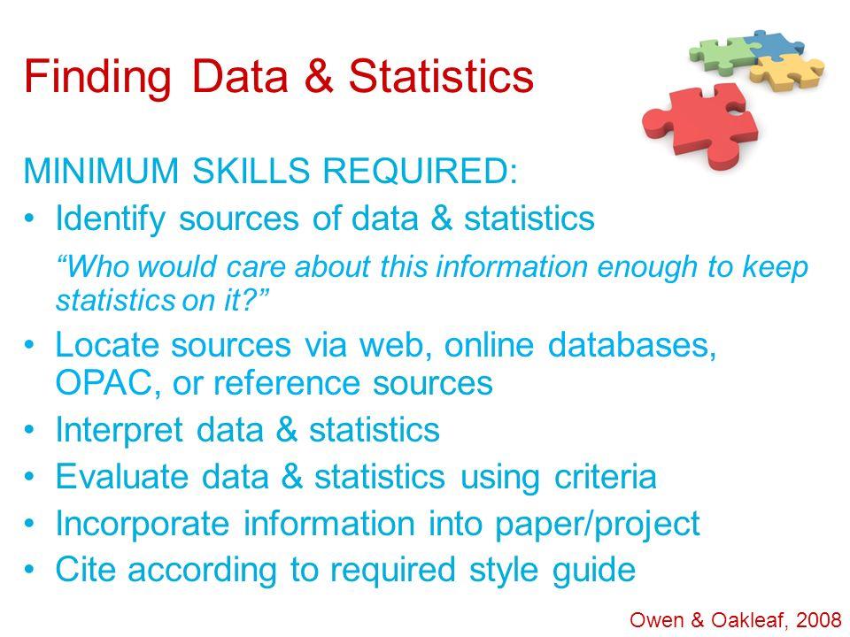Finding Data & Statistics