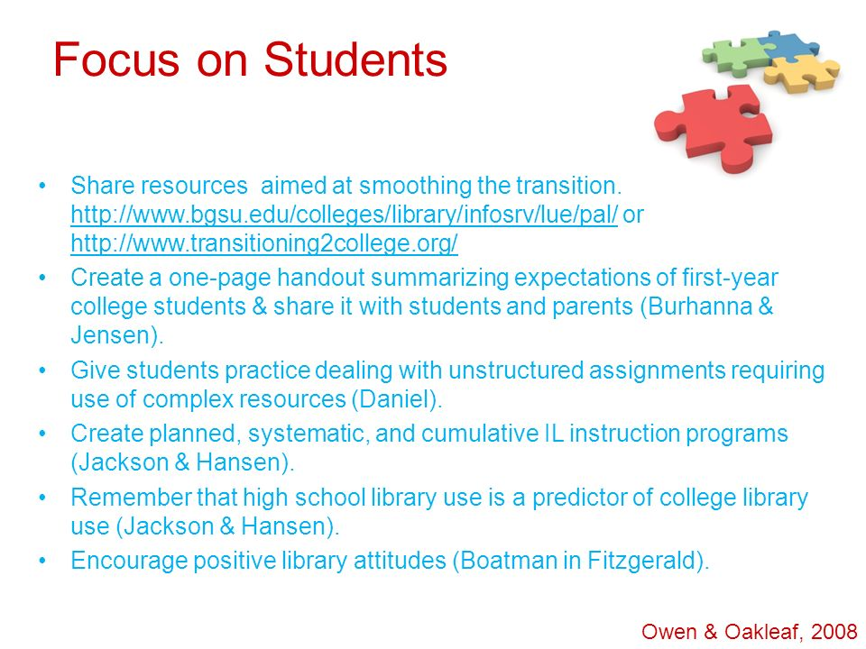 Focus on Students