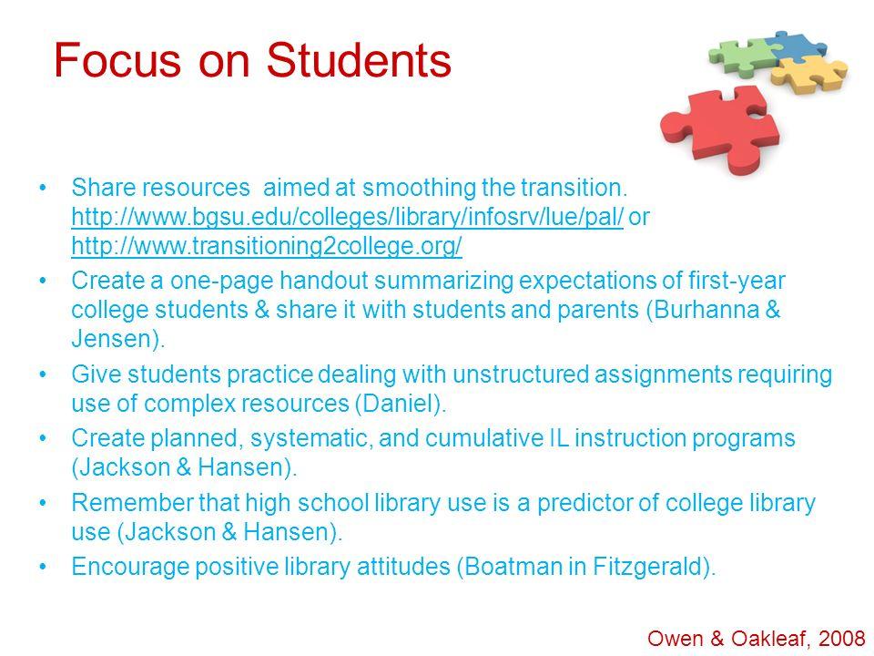 Focus on Students