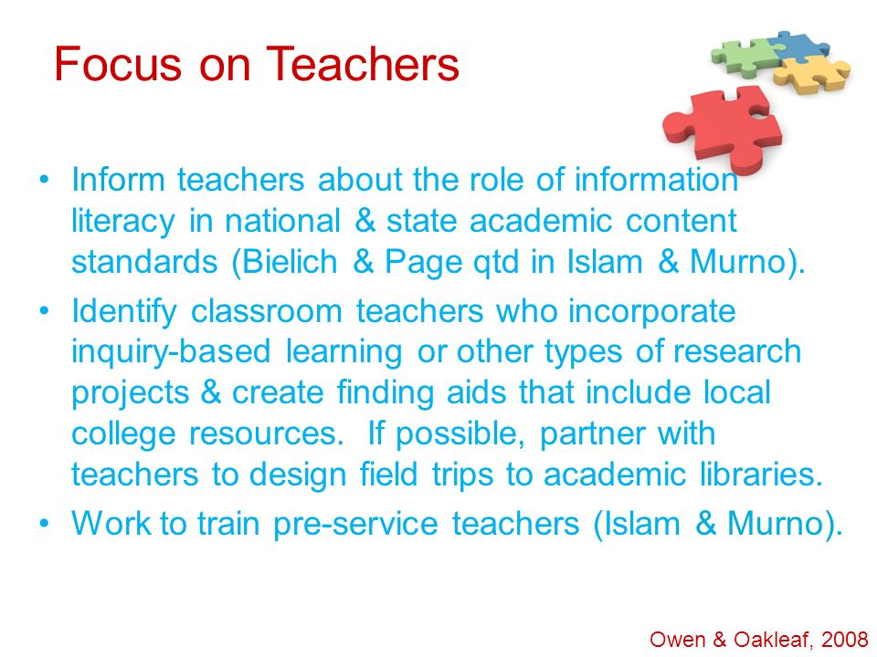 Focus on Teachers