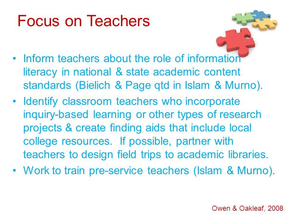 Focus on Teachers