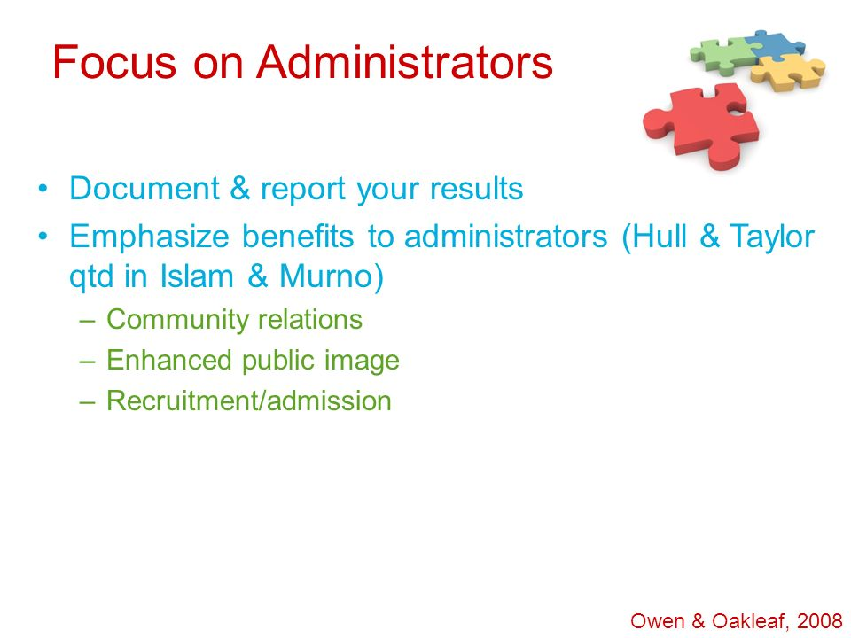 Focus on Administrators