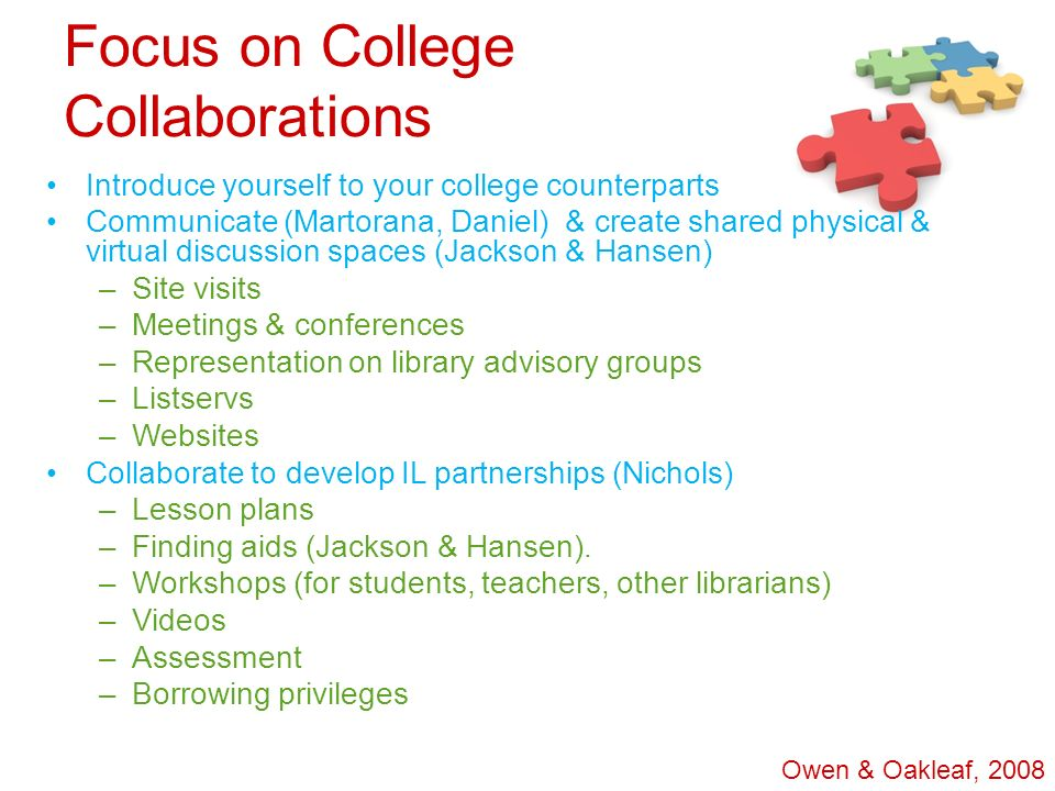 Focus on College Collaborations