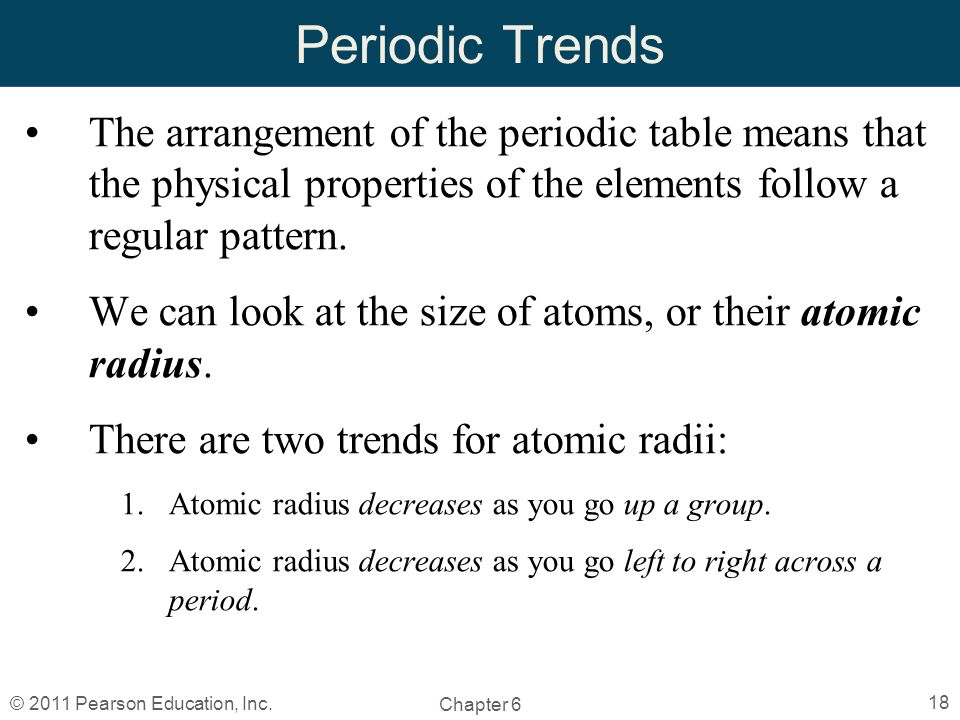Chapter 6 the periodic table by christopher hamaker ppt video 18 periodic trends the arrangement of the periodic table urtaz Image collections