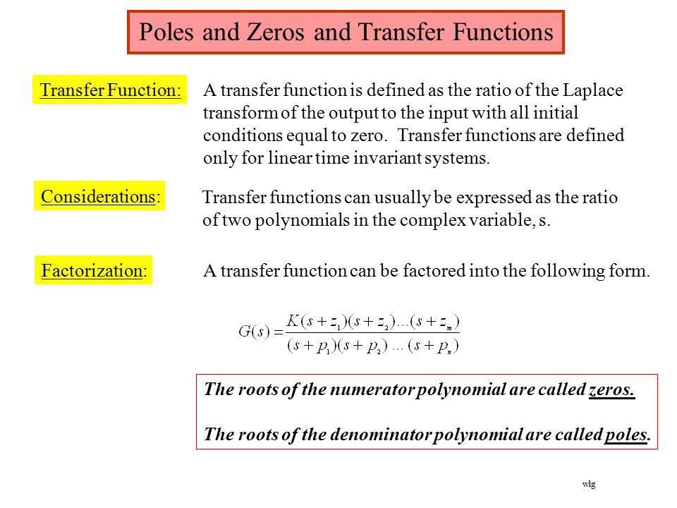 transfer functions A transfer function is a mathematical representation, in terms of spatial or temporal frequency, of the relation between the input and output of a linear time-invariant system with zero initial conditions and zero-point equilibrium.