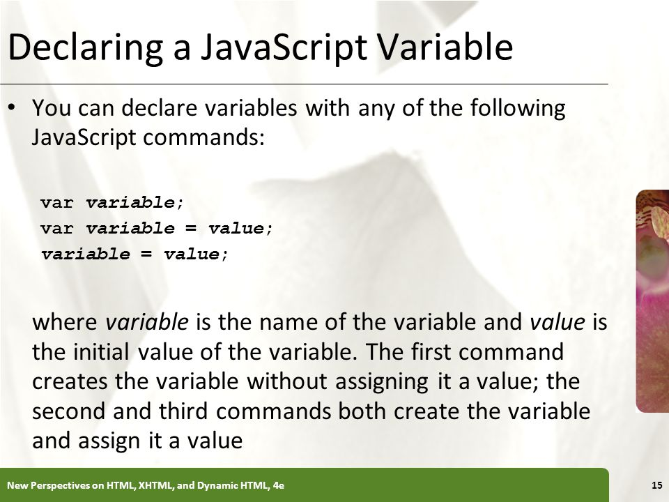 Declaring a JavaScript Variable