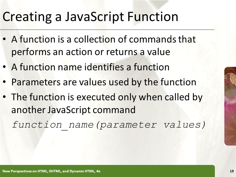 Creating a JavaScript Function