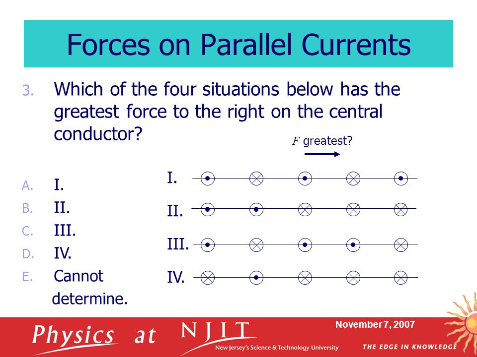 Forces on Parallel Currents