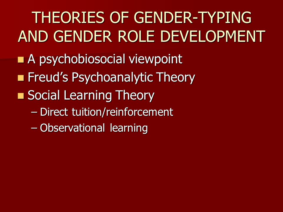 gender typing Lesbian and gay individuals have been reported to show more interest in other- sex, and/or less interest in same-sex, toys, playmates, and activities in childhood .
