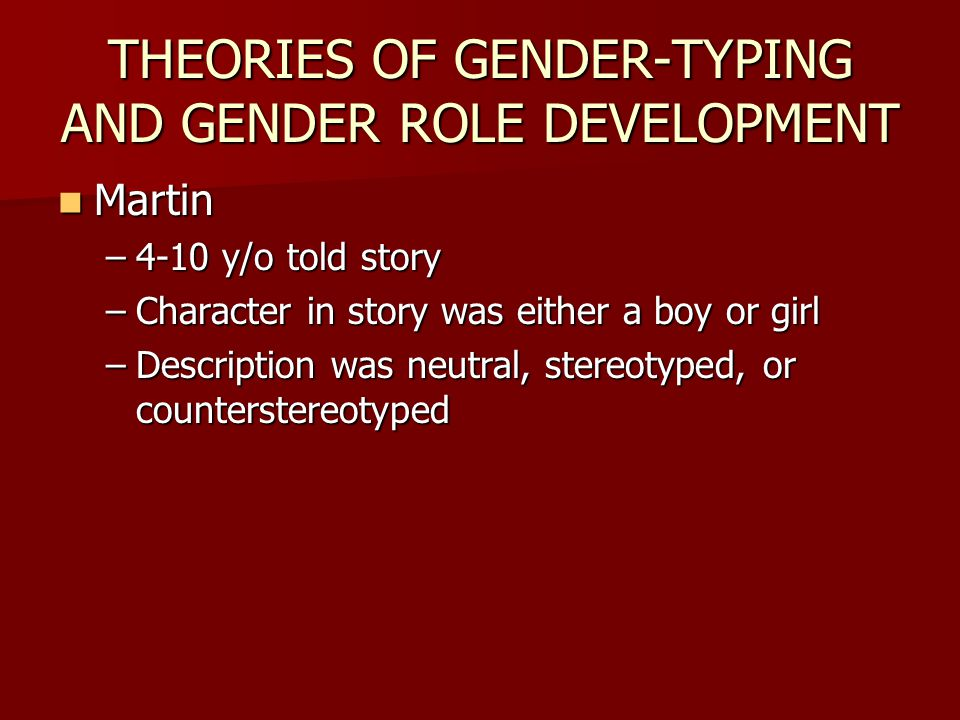 importance of sex gender role Gender equity activities opinions and feelings concerning the opposite sex time: 100 • to examine the effects of gender role.