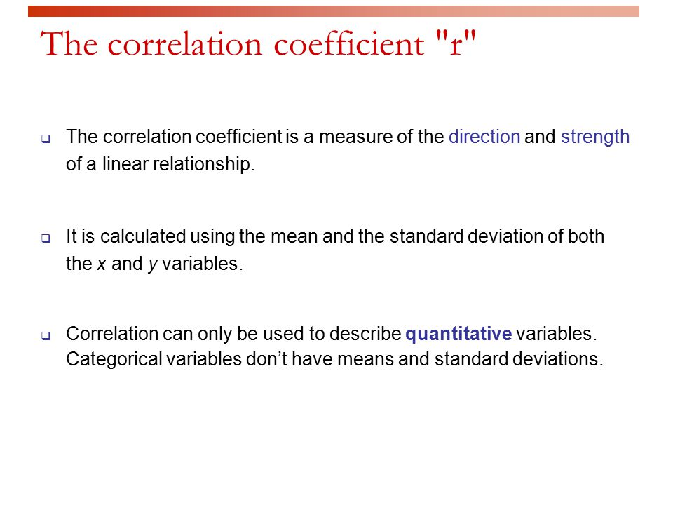 relationship between correlation and standard deviation