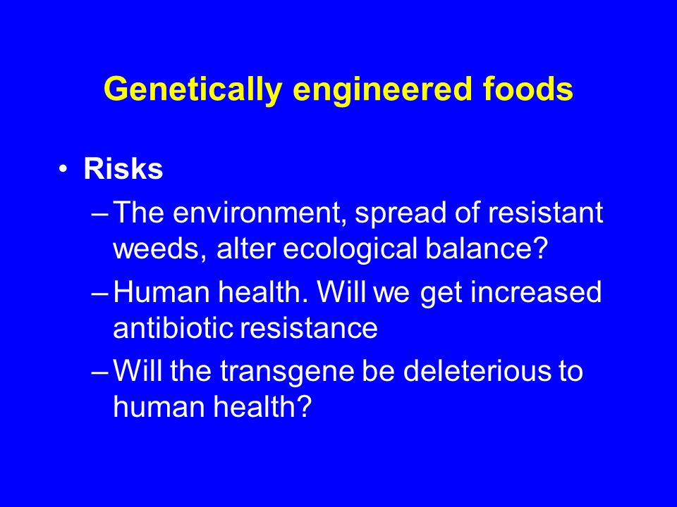 the deleterious effects and the risks of gm food essay About 80% of today's processed food contains genetically modified persuasive essay april the dangers go even farther than health risks.