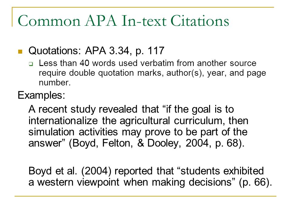 Alec 604 writing for professional publication ppt download common apa in text citations ccuart Choice Image