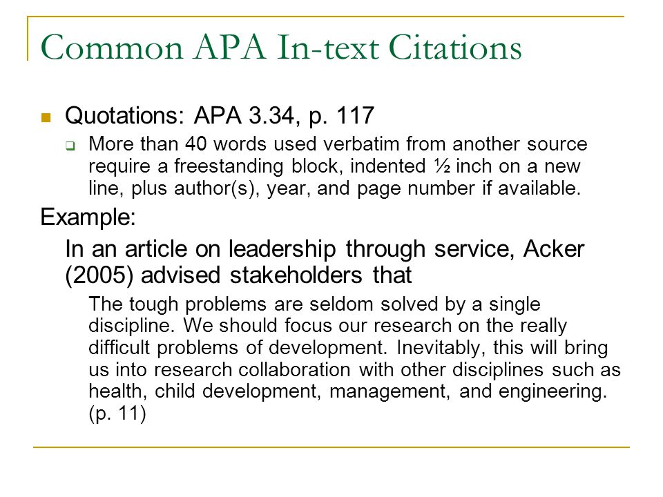 Alec 604 writing for professional publication ppt download common apa in text citations ccuart Image collections