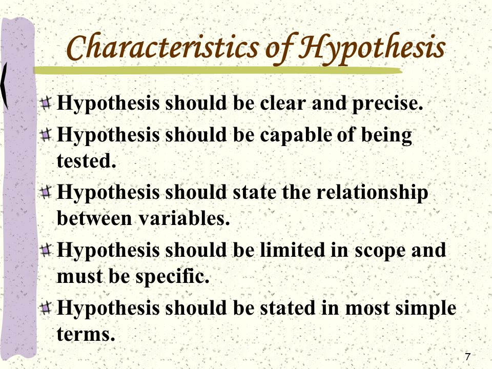 characteristics of hypothesis Hypothesis testing & characteristics:correlational hypotheses  research methods formal sciences statistics business.