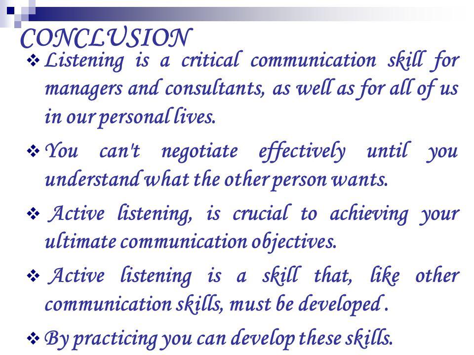 Becoming an active listener - LinkedIn