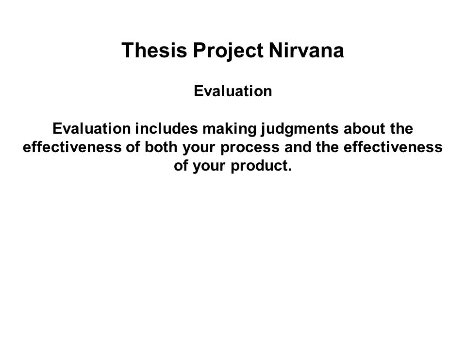 nirvana evaluation paper