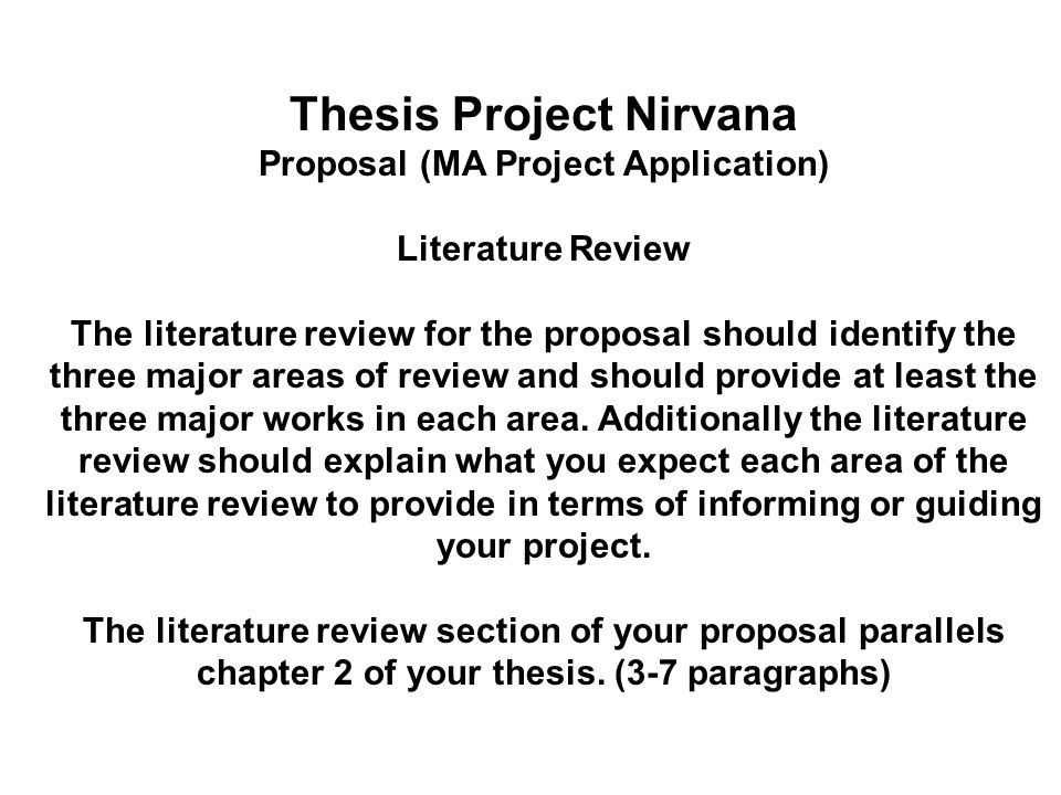 Thesis Project Nirvana Ppt Download