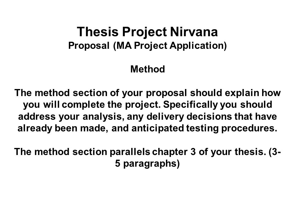 methods section of a thesis