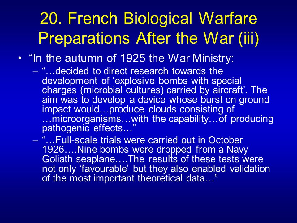 warfare an invention not a biological Get this from a library biological weapons : from the invention of state-sponsored programs to contemporary bioterrorism [jeanne guillemin] -- a timely account of how resources for biological weapons programs were mobilized and why such weapons have never been deployed in major conflicts offers an understanding of the relevance of the.